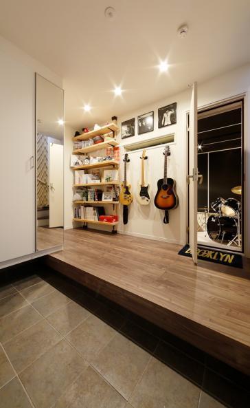 音楽スタジオのある家