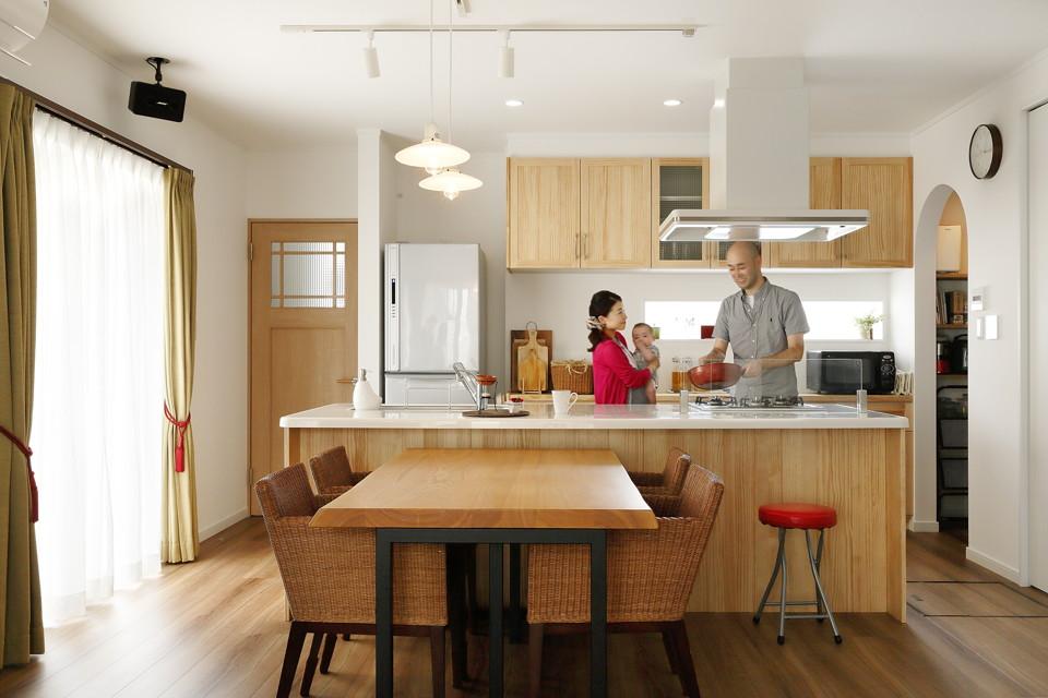 キッチンが主役の家づくり